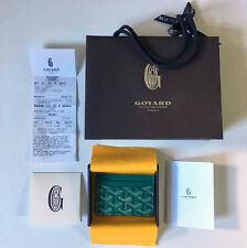 Goyard Green St Sulpice Card Holder Wallet Saint Honore Paris Black Yellow White