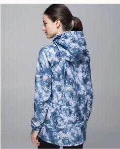 Lululemon MISS MISTY II SeasIde Silver Fox Rain Wind Proof Athletic Jacket Sz 6