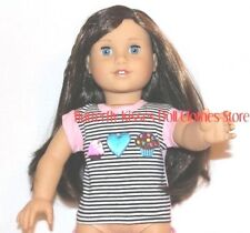 Cupcake Heart T-Shirt 18 in Doll Clothes Fits American Girl C