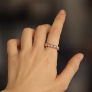 Full Eternity Diamond Wedding Band, Total 3.0 Carat Diamond Eternity Band
