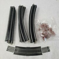 Bachmann Track HO Scale Lot of 27 Pieces 8 Straight And 18 Curved 1 Rerailer