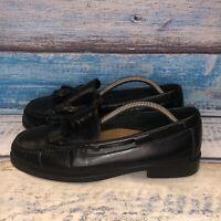 Bass Weejuns Size 10 Wide Women's Loafers Black Leather Tassel & Kiltie