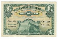 Gibraltar - One (1) Pound, 1942