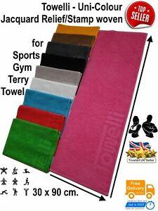 Sports Gym Terry Towel, Yoga/Bike/Running 100%Cotton,Jacquard, Uni-Color|TOWELLI