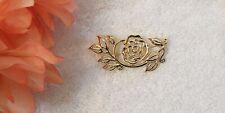 Spray Arrangem Gold Tone Sig Vl-G3 Classic Pin Brooch Flower Petal Leaf Blooming