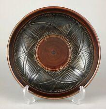Helen Walters per Doulton Lambeth c1950's grès marrone vetro ciotola piatto piastra