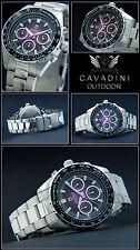 Outdoors Purple Tone Luxury Unisex's Chronograph Watch Cavadini Tachymeter 10