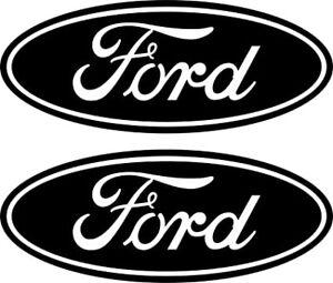 FORD LOGO x2 Car Sticker Decal Drift JDM Fiesta Focus Mondeo RS ST 😊