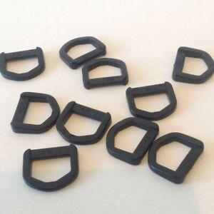 10 x 15mm Plastic D Rings Buckle Fastenings