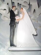TischdekoTortendeko Figur Brautpaar Braut Bräutigam Hochzeit Hochzeitspaar Blume