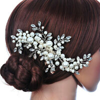 Crystal Fauxl Pearl Bridal Hair Comb Hair Clip Headpiece Wedding Hair Accessory