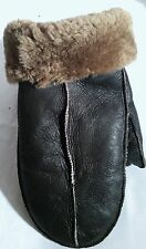 NEW! REAL SHEEPSKIN SHEARLING LEATHER MITTENS GLOVES MITTS VERY WARM L-XL