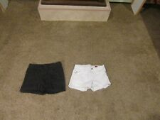 Lot of 2 girls shorts size 12  black,white