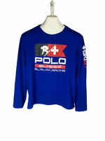Polo Ralph Lauren Suisse Slalom Racing long sleeve tshirt Sz L skiing Runs Small