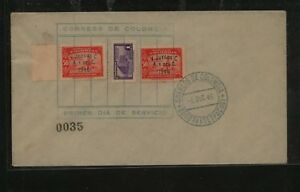Colombia  n543,  544  first day cancel  cover      MS0304