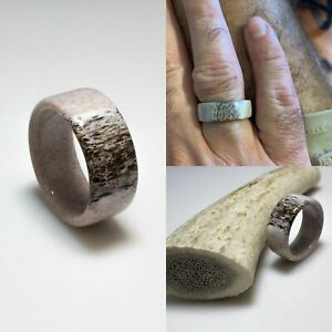 Ring For Men Women Wedding Band Ring Deer Antler Ring Antler Ring