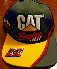 NASCAR Cat Racing #22 Bill Davis Racing Adjustable Hat New