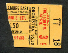 1970 Quicksilver Van Morrison concert ticket stub Fillmore East Bill Graham Rare