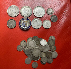 GB Lots Of Silver Coins All Pre 1920 Total 185  Grams