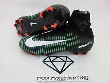 Nike Jr Mercurial Superfly V 5 FG Black Electric Green Kid's Size 5Y 831943-013