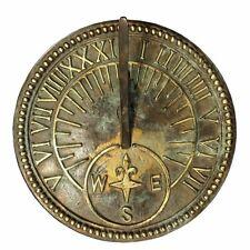 Rome Industries 2310 Roman Sundial Antique Brass Nautical Compass