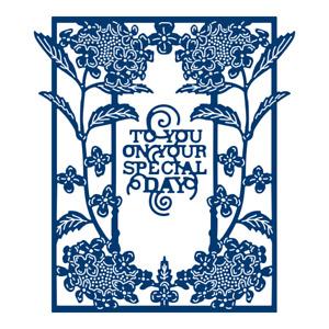 tattered lace Blue Hydrangea die (TLD0582)