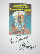 Diamonds Are Forever Signed Movie Script James Bond Sean Connery Maxwell reprint