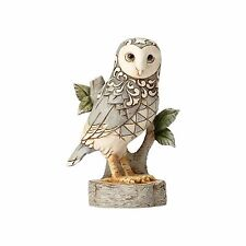 Jim Shore Heartwood Creek White Woodland Owl on Branch 4056970 Wisdom Wonder NEW