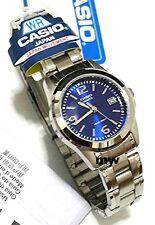 Genuine Casio Dress Watch Women's Analog Quartz Blue Dial Date 50M LTP-1215A-2A