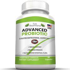 Non GMO Probiotic Capsules Over 5 Billion Essential Live Cultures