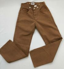 Brents Dead-Stock Repo 1930's Buckle Back Brown/Duck Canvass Trouser Size 29x31