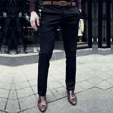 Men Casual Slim Fit Jeans Skinny Business Formal Working Pants Slacks Trousers