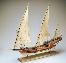 "Amati Xebec  28"" Wooden Tall Ship Model Kit Historic Series Barbary Pirates"