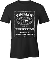 Aged To Perfection Mens 1957 T-Shirt Born 60th Year Birthday Age Present Gift