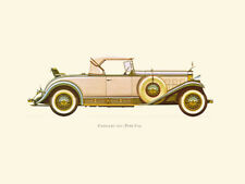 Canvas Print Vintage Car Poster Illustration - CADILLAC 1931 ( TYPE V16 )