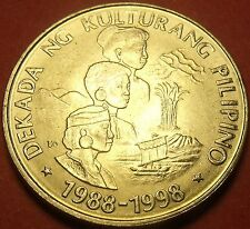 Philippines 1989 Piso Unc~Philippine Cultures Decade~Only Year~Free Shipping