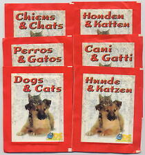 DS sticker CANI & GATTI - 6 bustine sigillate complete set 6 languages - Bu81
