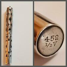 EXQUISIT Stylo plume ARGENT MASSIF WATERMAN 452 1/2v Silver Overlay Fountain Pen