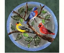 Bird Baths Songbird Trio Glass Bird Bath Se5005