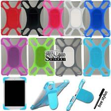 Soft Silicone Back Stand Shockproof Cover Case For Various Model Tablet + Stylus