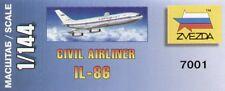 1/144 Zvezda 7001 Ilyushin Il-86 Airliner Aeroflot