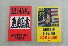 2 Lot Of 2 Live Crew Laminated Backstage Passes Aaa