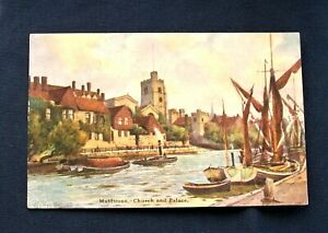 Vintage Maidstone Church & Palace, Kent, Postcard - Postmarked 1906