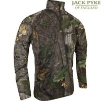 JACK PYKE QUICK WICK ARMOUR TOP EVO CAMO 1/4 ZIP T-SHIRT S-3XL FAST WICKING MESH