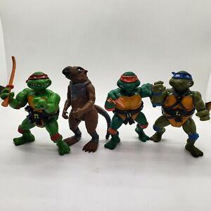 ORIGINAL Vintage 1988 TMNT Teenage Mutant Ninja Turtles Figures Lot OF 4