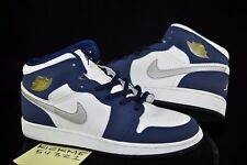2001 NIKE AIR JORDAN 1 RETRO +  SIZE 4.5 BLUE WHITE WOMANS BANNED YOUTH RARE