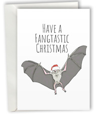 Merry Christmas Bat Greeting Card A6