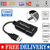 HDMI to USB 3.0 Video Capture Card 1080P 60pfs Record For Video Live Streaming