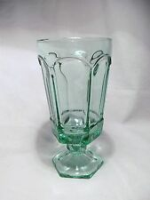 *NEW* Set of 4 vintage FOSTORIA light GREEN crystal glass VIRGINIA tea GLASSES