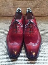 Handmade Men wingtip burgundy color shoes, Men suede and leather dress shoes